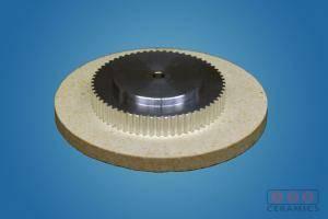 Powdered metal cog on ground disc IPS Ceramics