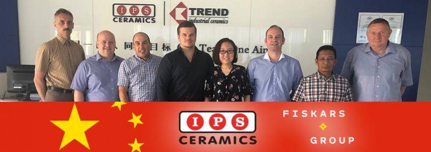 IPS Ceramics Welcome the Fiskar Group to China